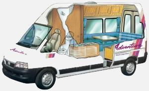 adventure vans 2 bett fiat super deluxe wohnmobil. Black Bedroom Furniture Sets. Home Design Ideas